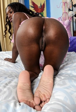 Nude dark skinned black chick Armoni..
